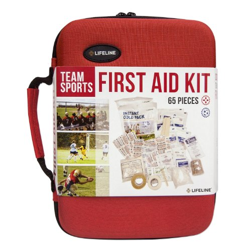 Lifeline Team Sport Trainer First Aid and Safety Kit, Stocked with essential first aid components for emergencies resulting from outdoor and team sports activities from Lifeline
