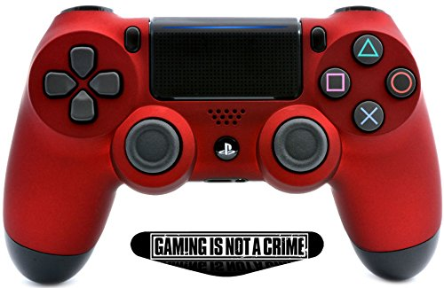 Soft Touch Red Ps4 PRO Rapid Fire Custom Modded Controller 40 Mods for All Major Shooter Games, Fortnite, Quick Scope, Auto Run, Jump Shot, Active Reload & More (CUH-ZCT2U) with Custom LightBar Review