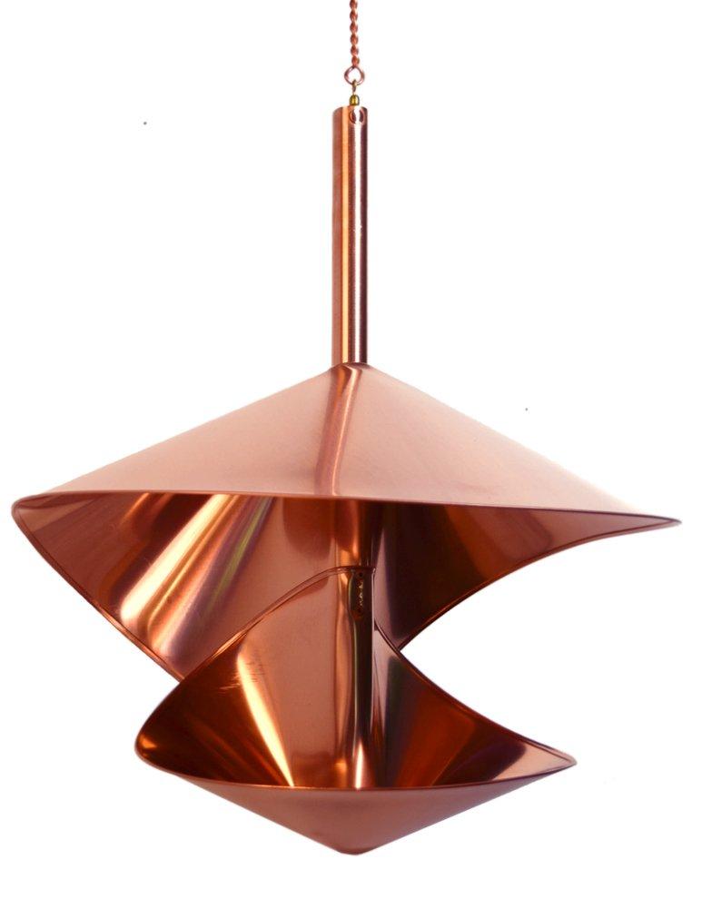 Hanging Bird Feeder ''Copper Spiral'', Large 16'' Diameter