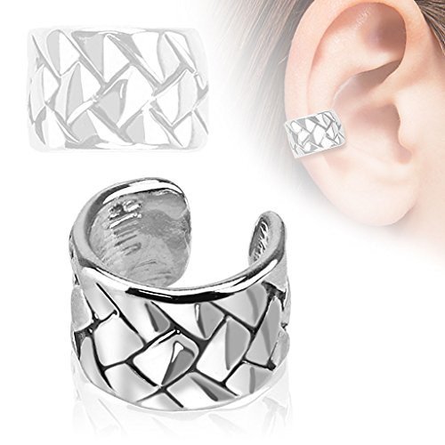 faux piercing oreille anneau écailles helix lobe tragus
