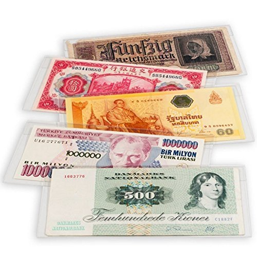 10 Premium Polyester Museum Grade Large Mylar Currency Sleeves, 8 1/4 x 4 7/8