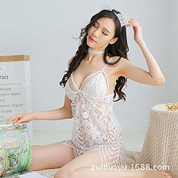 Hermosa Chica Hembra Underwear Ropa Interior Ropa Interior Conjunto Transparente Medias Conjoined Traje Overol Net,