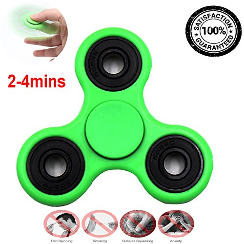 Mangoo Tri Fidget Spinner Toy for Relieving Stress Green Color