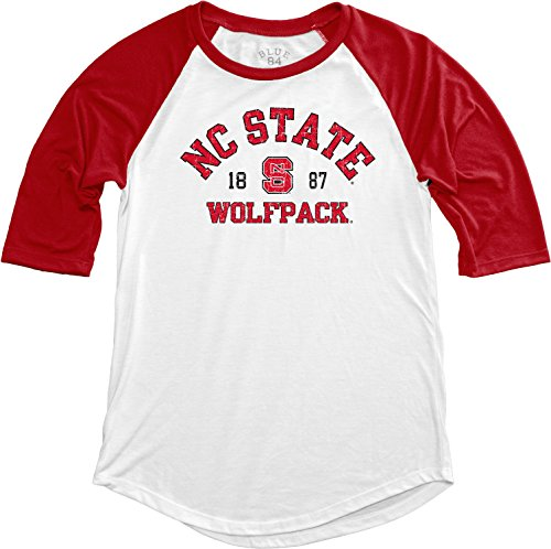 Nc State Wolfpack Classic Shirt (NCAA North Carolina State Wolfpack Adult Women NCAA Women's Teagan Baseball Tee,Small,Red)