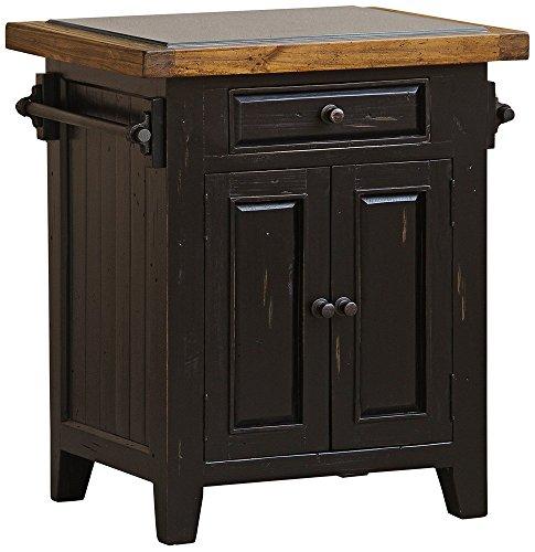 Kitchen Furniture Tuscan (Hillsdale Tuscan Retreat Granite Top Kitchen Island in Black)
