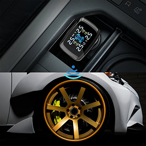 tpms tire pressure monitoring system vingtank wireless led display with diy 4 internal sensors. Black Bedroom Furniture Sets. Home Design Ideas