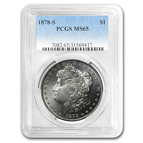 (1878 S Morgan Dollar MS-65 PCGS $1 MS-65 PCGS)