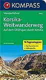 Korsika-Weitwanderweg, Auf dem GR20 quer durch Korsika: Wanderführer mit Tourenkarten und Höhenprofilen (KOMPASS-Wanderführer, Band 5942)