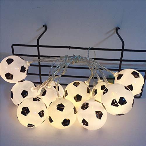 LEDMOMO 2M 10 LEDs String Light Football Shaped Battery Operated Light String Decorative Night Light for Home Bedroom Without Batteries (Warm White)