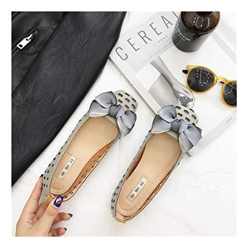 Blando Fondo Retro Se alar Hebillas Guisantes C PU Diamond Zapatos Superficial WULIFANG Z68Txqw08