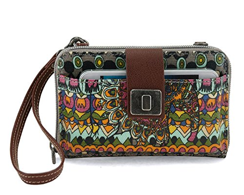 sakroots-artist-circle-smartphone-cross-body-bag-charcoal-one-world-one-size