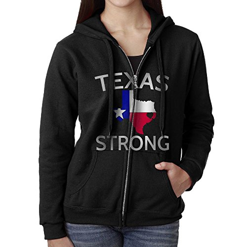 I Love Houston Texas Texas Strong100% Cotton Woman Full Zip Hooded Sweatshirts With Pockets Pullover Hooded