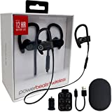Beats by Dr. Powerbeats3 Wireless In-Ear Headphone W/MKK Car Adapter (Certified Refurbished) (Black)