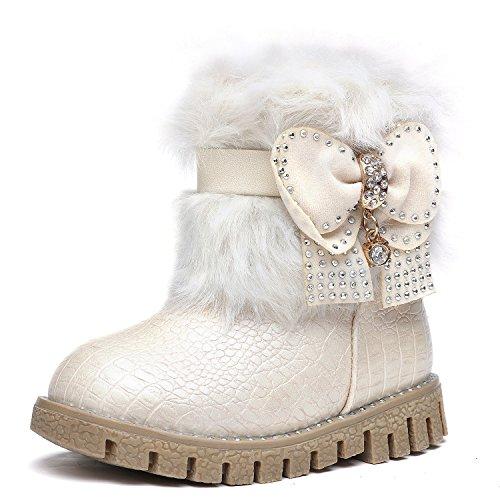 Gefüttert Rosa Weiß Winter Mädchen Baby KVbaby Schwarz Schlupfstiefel Weiß Kurz Schnee Leder Wärme Kinder Stiefel Wasserdichte Stiefel Princes pTPRwTqxa