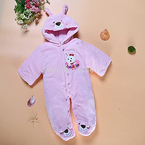 dc5c664f3 Amazon.com  SOPO Bear Baby Girls Winter Romper Newborn Baby Winter ...