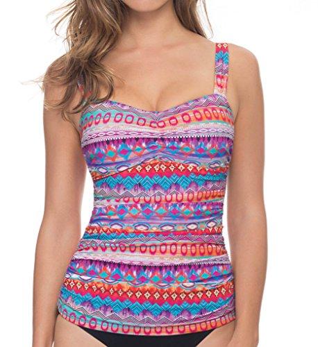 Profile by Gottex Women's Santa Fe Underwire Bra Tankini Top (D Cup) Multi - Santa Fe Fashion Outlet