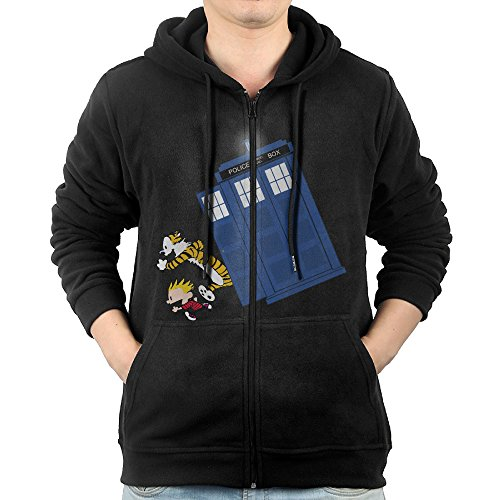 [GD-One Men Calvin And Hobbes Doctor With Who Visor Particular Hoodie Hoodies Leisure Style XXL] (Calvin And Hobbes Couple Costume)