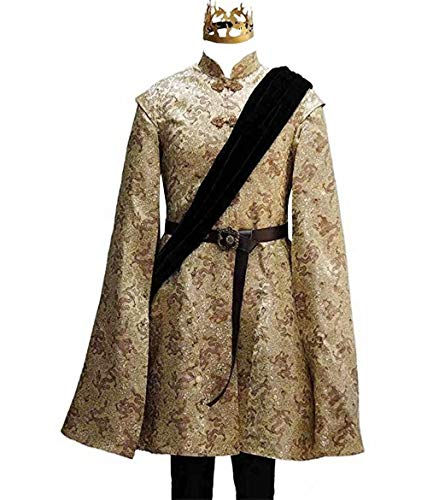 Thrones King Joffrey Baratheon Outfit Halloween Cosplay Costumes for Adult