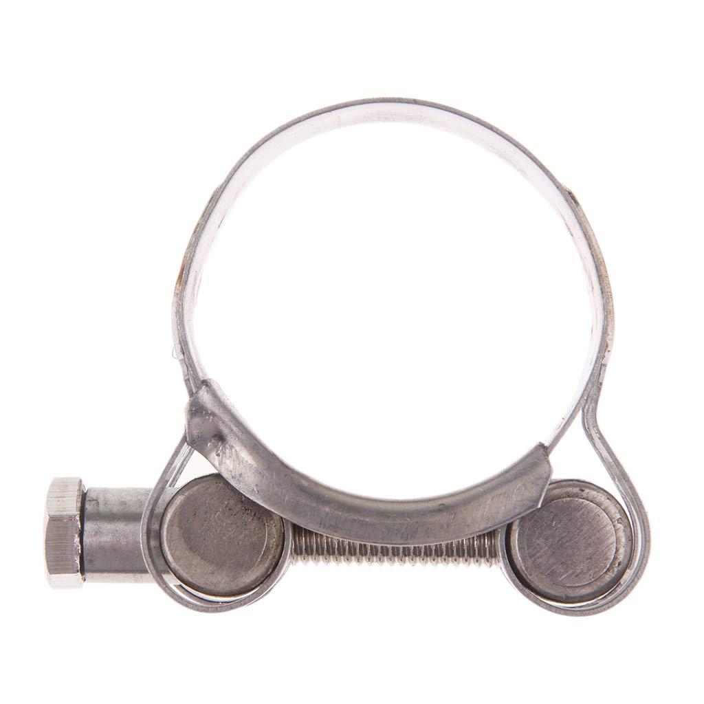 Homyl Fascetta Stringitubo Supporto Tubo Di Scarico Silenziatore Acciaio Inox Moto 48-51mm
