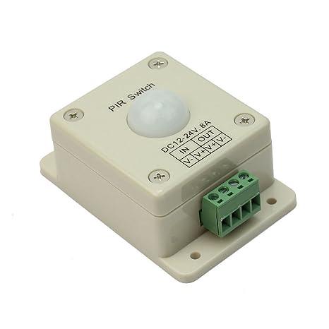 DC12V-24V 8A PIR Detector Sensor Infrarrojo Movimiento Interruptor para LED Luz