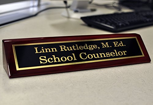 Desk Name Plates | Free Engraving | Custom Name Plates | Multiple Sizes Available (2
