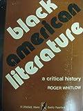Black American Literature, Roger Whitlow, 0822602784