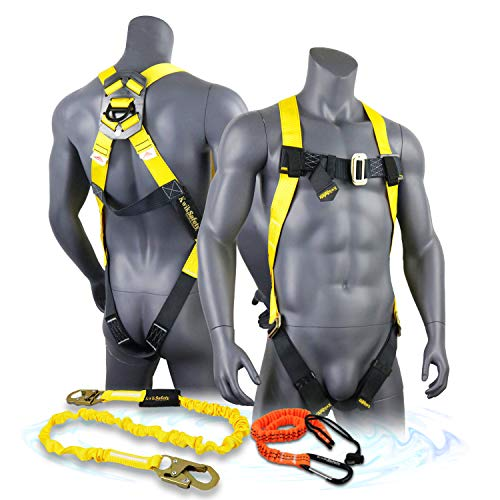KwikSafety (Charlotte, NC) TORNADO COMBO | 1 D-Ring Full Body Safety Harness, 6