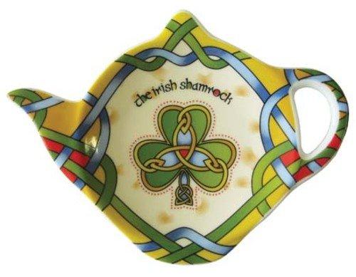 Shamrock Tea Bag Holder Tea Accessories Celtic Colors