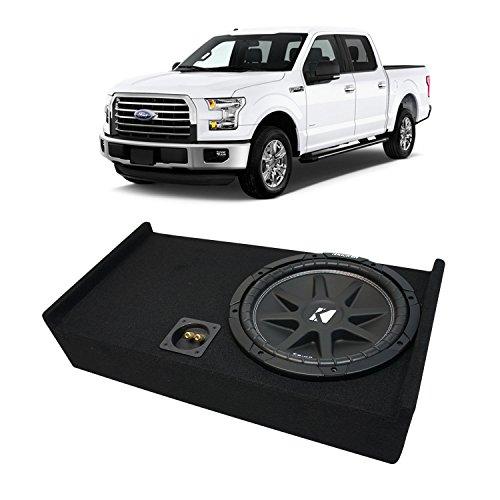 "Fits 2009-2015 Ford F-150 Super Crew Truck Kicker Comp C12 Single 12"" Sub Box Enclosure - Final 4 Ohm"