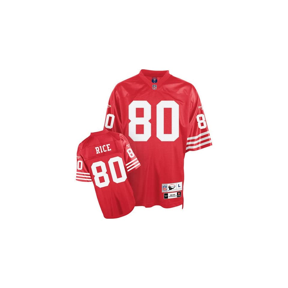 Jerry Rice #80 San Francisco 49ers NFL Retired Premier Jersey (Red) (XX Large)