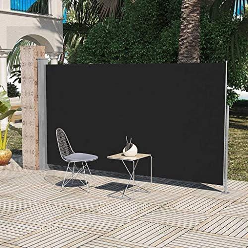 vidaXL Toldo Lateral Retráctil Poste de Acero Negro 180x300 cm ...