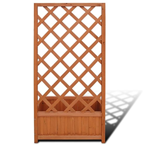 Tidyard Trellis Planter with Weather-Resistant for Outdoor Garden, Patio, Backyard Herbs/Tomatoes/Beans/peas 2' 4