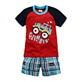 Captain Meow Baby Boys' Short Sleeves Infant Clothing Set T-shirt And Pants Tractor 6T