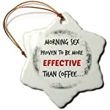 Funny Christmas Snowflake Ornaments Morning Sex Proven To Be More Effective Than Coffee Popular Saying Holiday Xmas Tree Hanging Ornaments Decoration Gifts