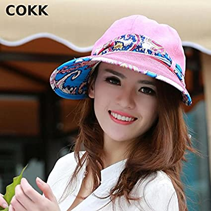 bb70bbcc COKK Summer Hats for Women Wide Large Brim Sun Uv: Amazon.in: Electronics