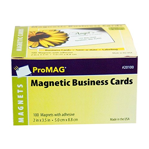 ProMAG 2 x 3-1/2 Inches Adhesive Business Card Magnets ()