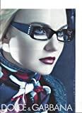 --PRINT AD-- With Caroline Trentini For 2008 Dolce & Gabbana Black Eyewear