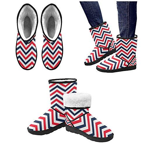 D-story Fashion Mujeres Zapatos Flamingo High Top Botas De Nieve Para Mujer Color6