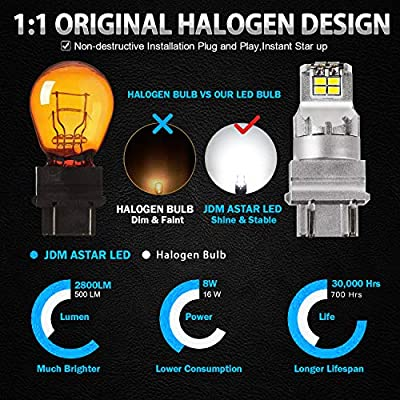 JDM ASTAR High Performance Super Bright 1:1 Design 3020 Chips 3056 3156 3057 3157 4057 4157 White LED Bulbs: Automotive