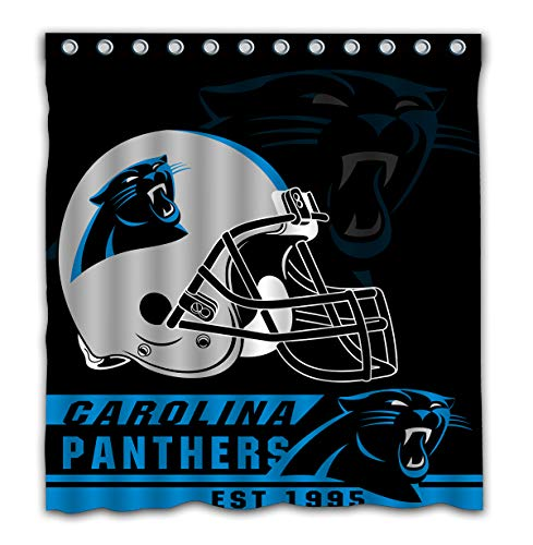 - Felikey Custom Carolina Panthers Waterproof Shower Curtain with Color Bathroom Decoration Size of 66x72 Inches