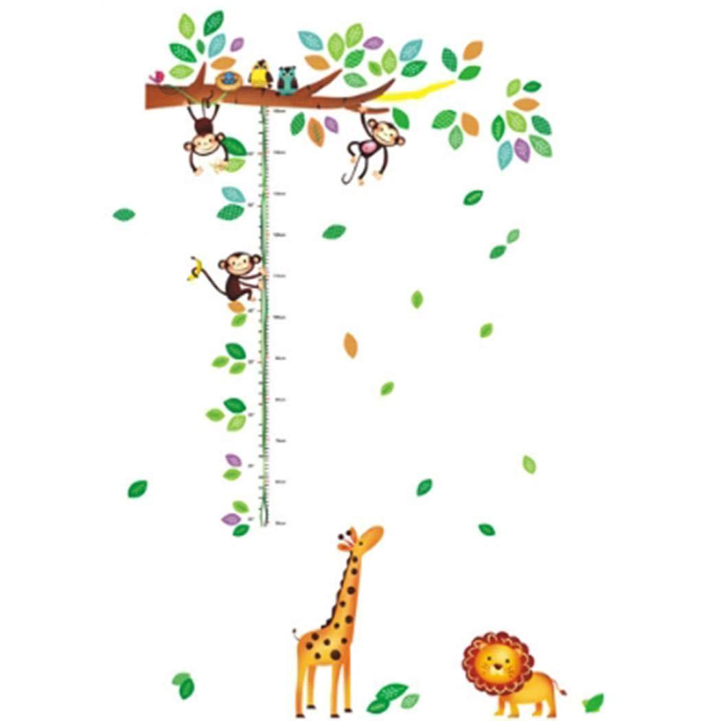 Fanala Cartoon Animals Height Measure Wall Sticker For Kids Rooms Growth Chart Decor Wall Art Wall Stickers by Fanala