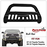 2011 toyota tundra grill guard - PartsTrend Front Bull Bar Compatible with 07-13 Toyota Tundra/Sequoia Push Bumper Grill Grille Guard