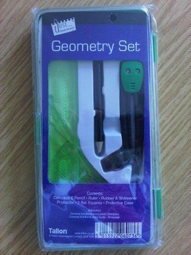 Grünes Schule Gemoetrie Mathematik Set Kompass Winkelmesser Lineal Set Tallon