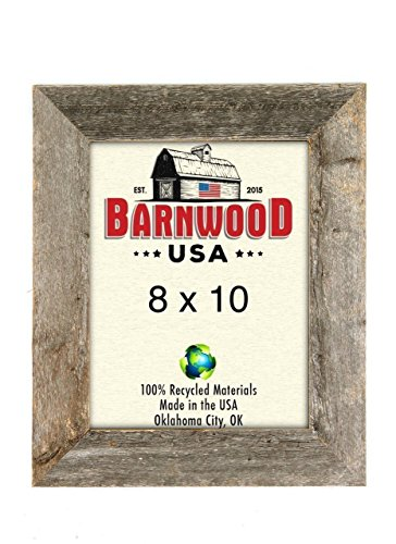 BarnwoodUSA Rustic 8x10 Inch Picture Frame 1 5/8 Inch Wide - 100% Reclaimed Wood, Weathered - Wood Picture Frame