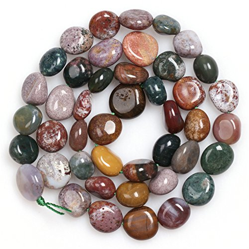 Ocean Jasper Beads for Jewelry Making Natural Gemstone Semi Precious 9x12mm Freeform Potato Shape 15