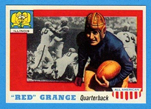 Red Grange 1955 Topps All-American Football Reprint Card (Bears)