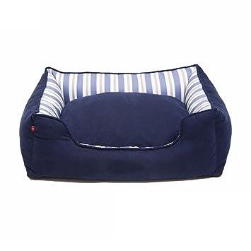 Casas para Perros Interiores Square Dog Bed - Kennel - Cama para Mascotas (Azul Marino
