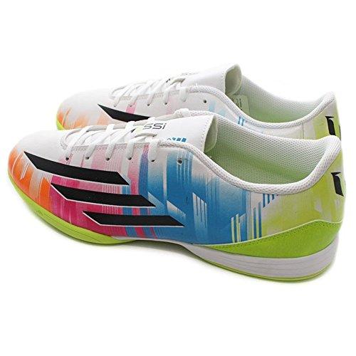 Adidas - F10 IN Messi - F32677 - Colore: Azzuro-Bianco-Verde - Taglia: 44.6
