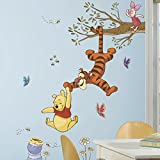 Roommates Rmk2463Gm Winnie The Pooh Swinging For Honey Peel And Stick Giant Wall Decals, 1-Pack