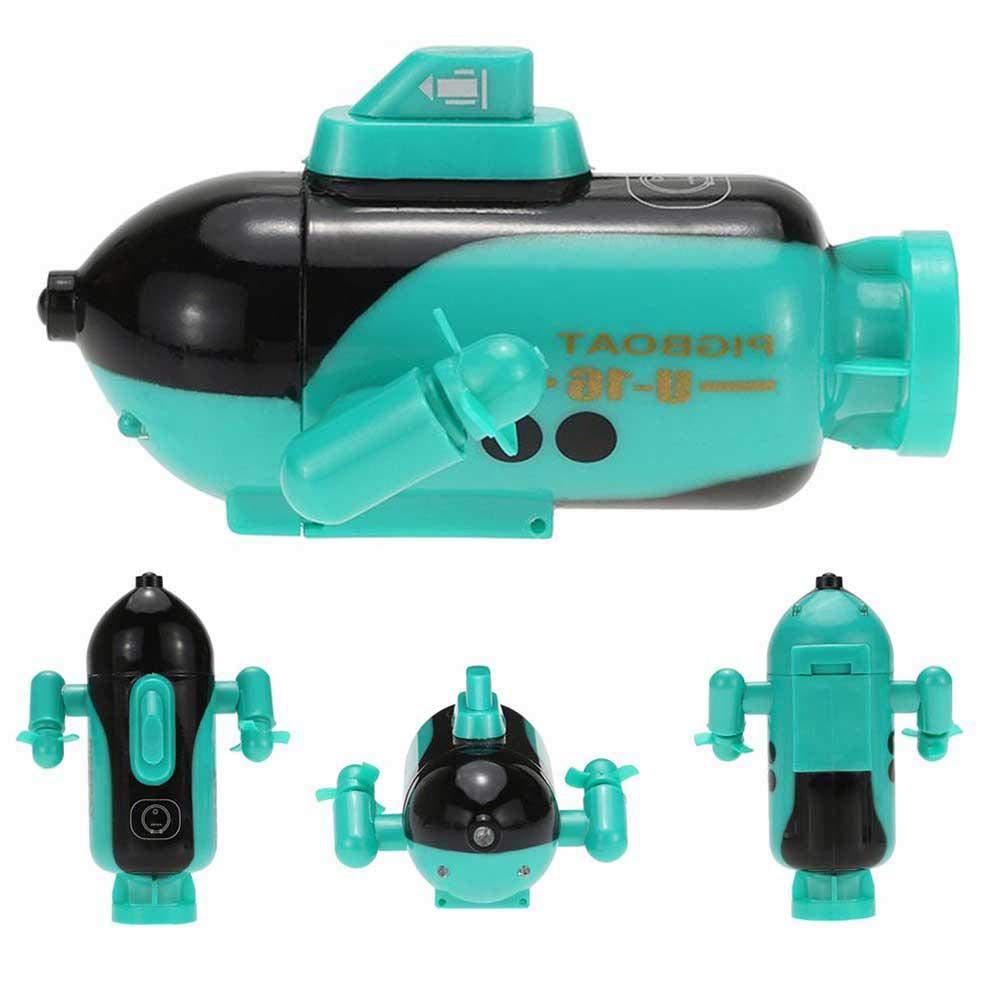 Womdee RC Mini t/él/écommande de sous-Marin avec t/él/écommande /électronique /étanche sous leau Submersible t/él/écommande sous-Marine Mettez-Le dans la Piscine